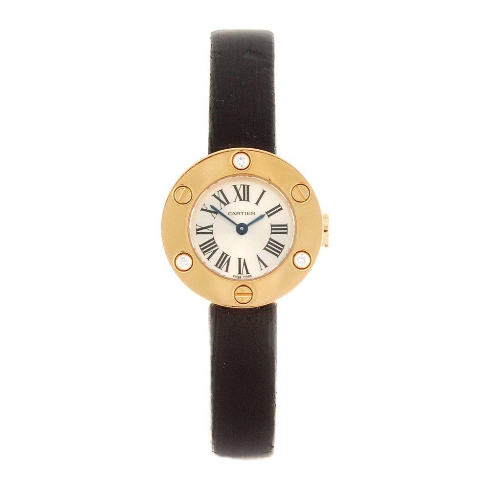 (945002051) An 18k rose gold quartz Cartier Love wrist