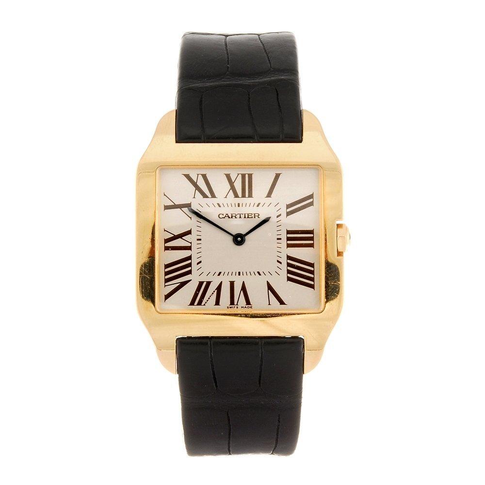 (984000101) An 18k rose gold quartz gentleman's Cartier