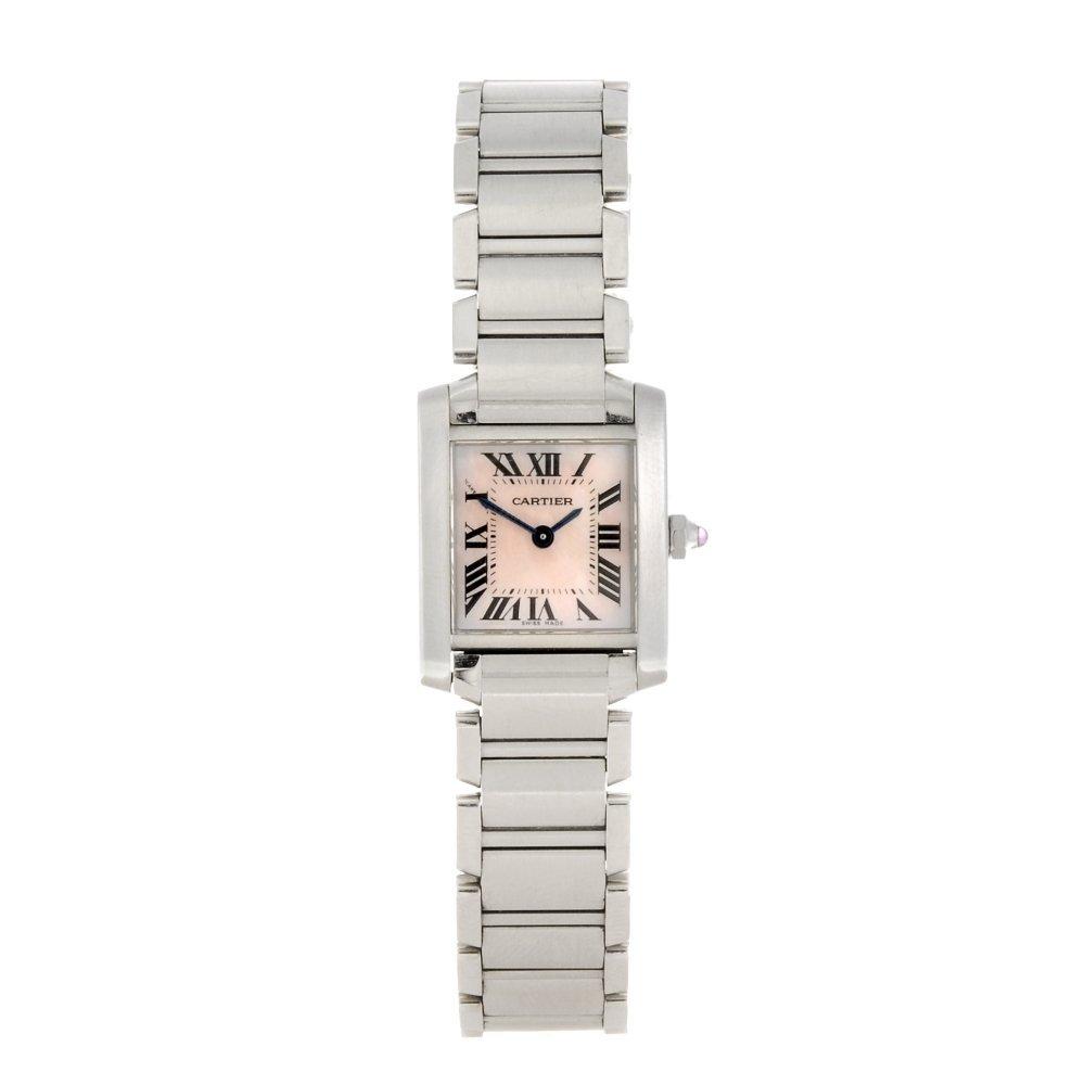 (984001035) A stainless steel quartz lady's Cartier