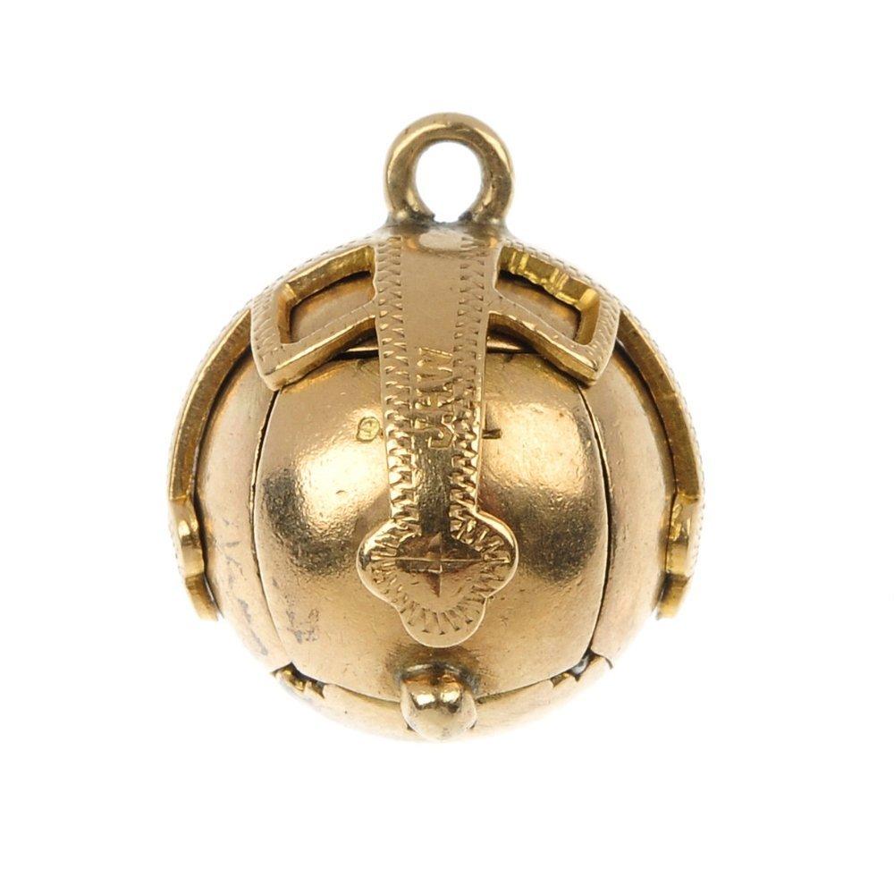 A Masonic ball pendant.