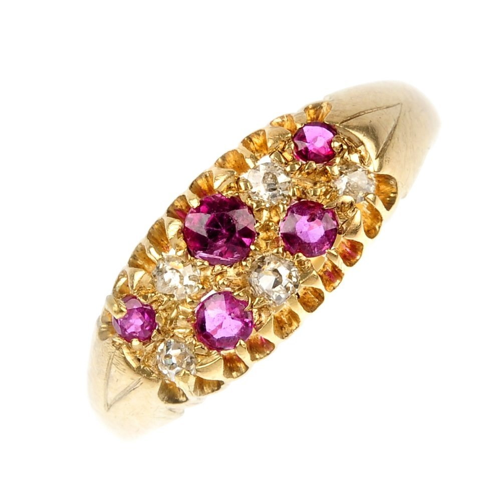 An early 20th century ruby and diamond ring.