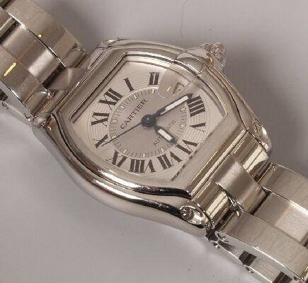1013: CARTIER - a gentleman's steel automatic