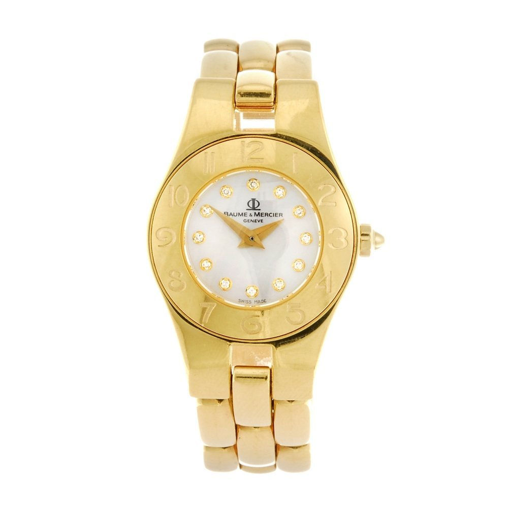 (531643-7-C) An 18k gold Baume & Mercier bracelet
