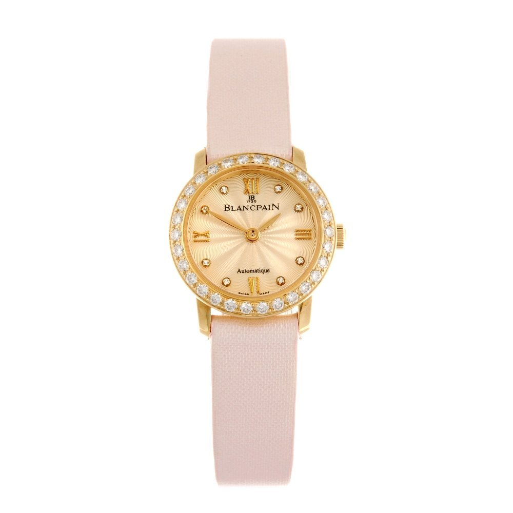 (531643-1-A) An 18k gold automatic lady's Blancpain