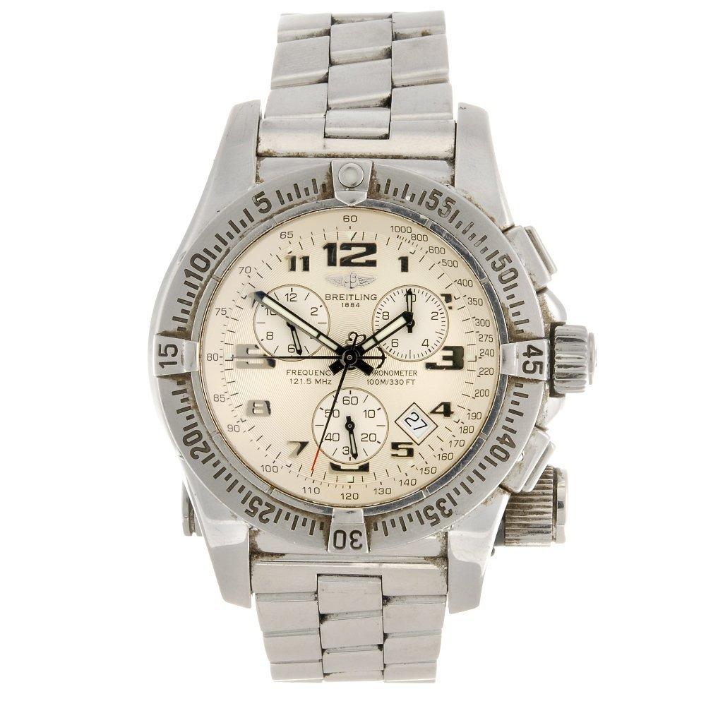 (215228862) A stainless steel quartz chronograph