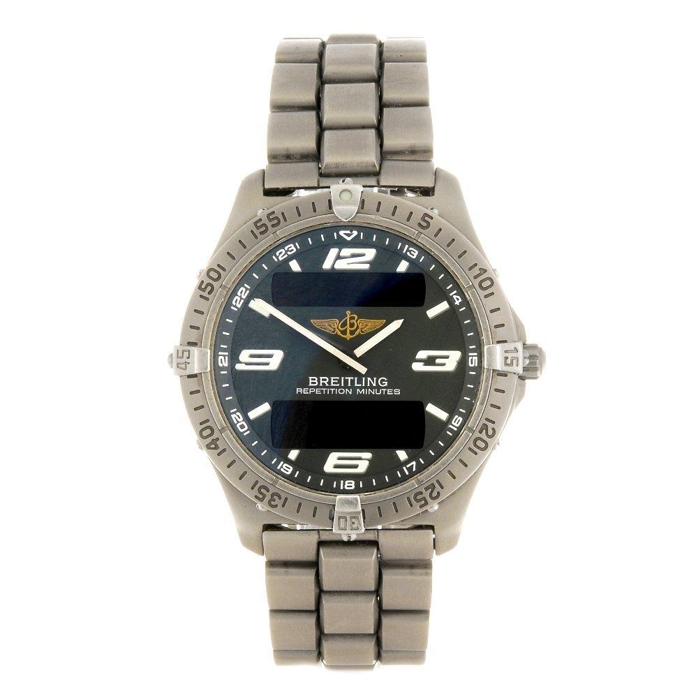 (000392) A titanium quartz gentleman's Breitling