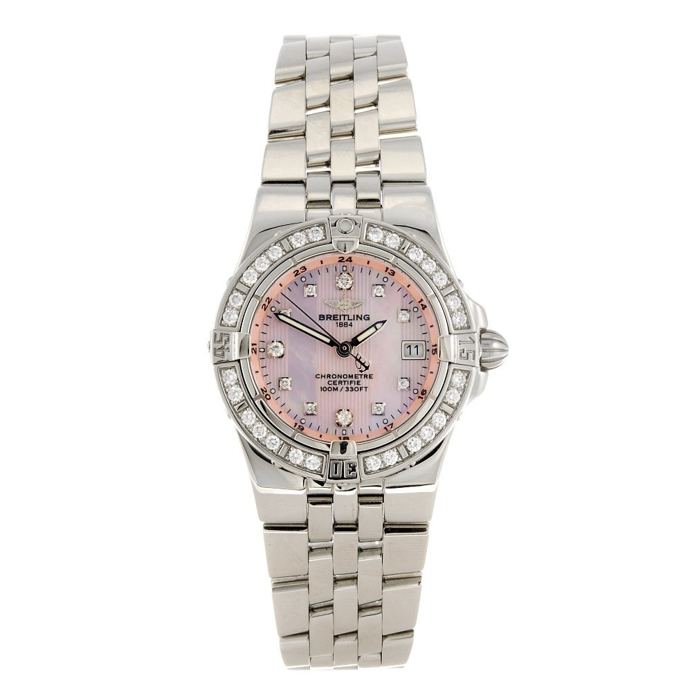 (531886-2-A) A stainless steel quartz lady's Breitling