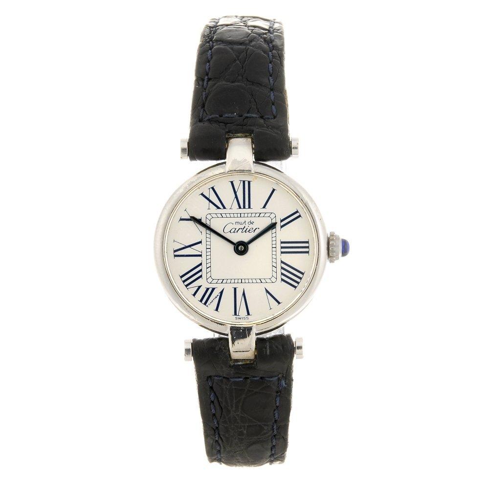 (413017018) A silver quartz Must de Cartier Vendome
