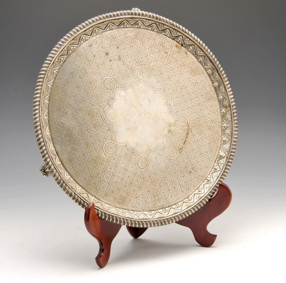 A George III silver salver.