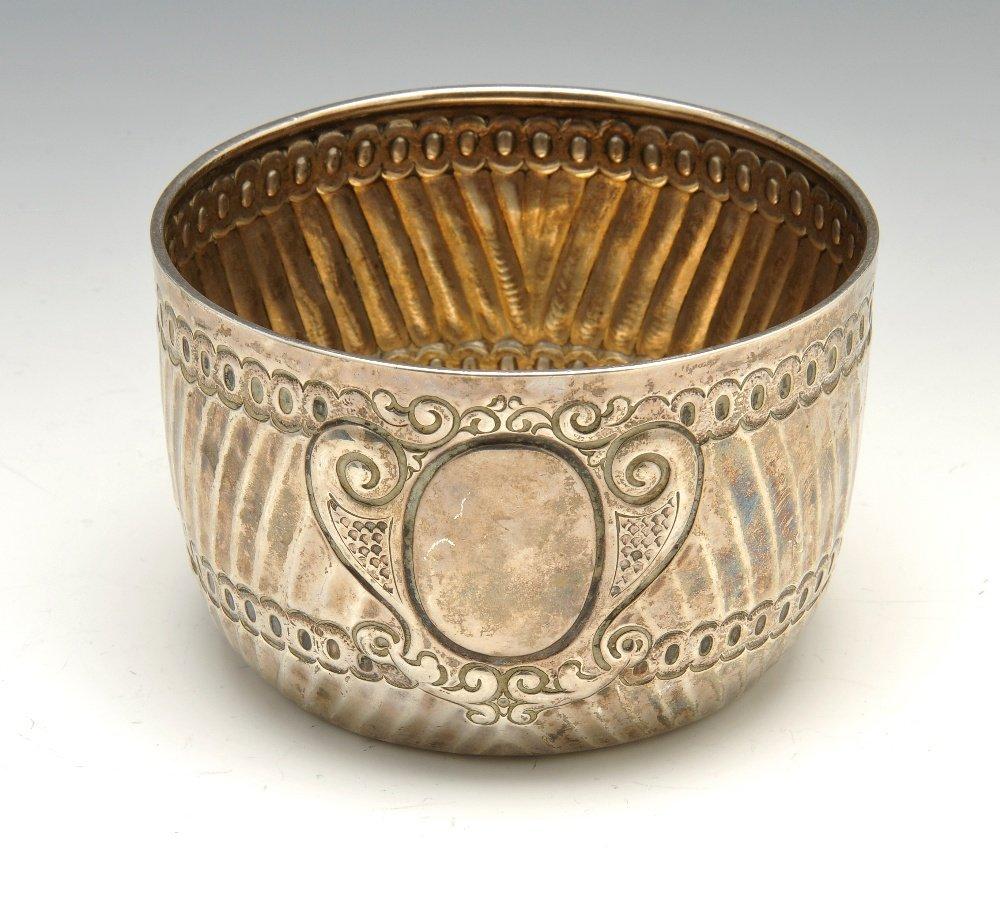 A Victorian silver bowl.