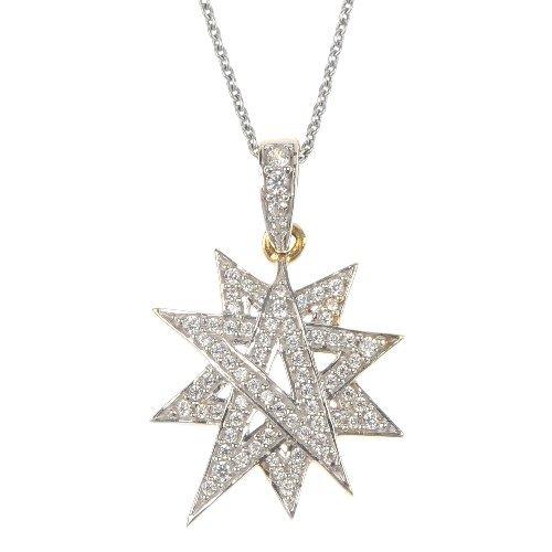 A paste star pendant.