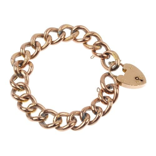 A late 19th century 9ct gold curb-link bracelet.