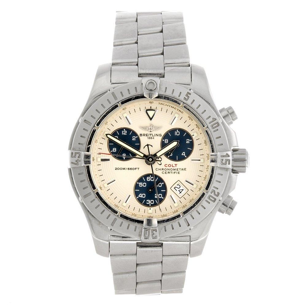 (307089253) A stainless steel quartz chronograph gentle