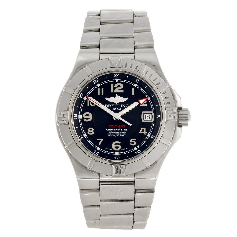 (945002078) A stainless steel automatic gentleman's Bre