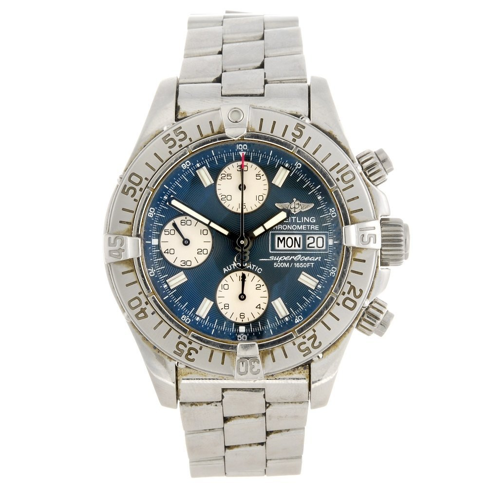 (973018300) A stainless steel automatic gentleman's Bre