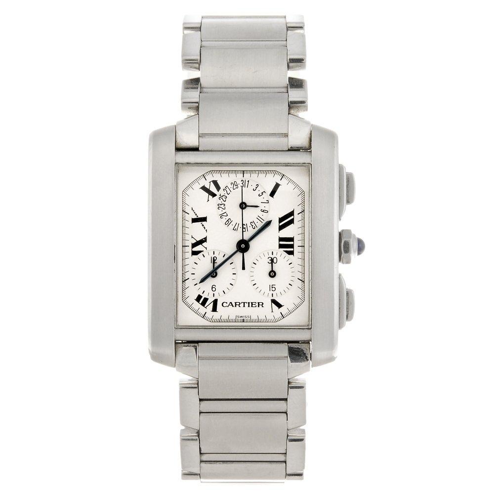 (605012313) A stainless steel quartz Cartier Chronoflex
