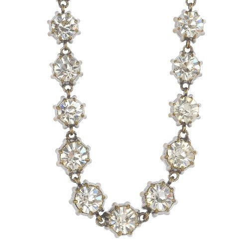 An early 20th century paste riviera necklace.