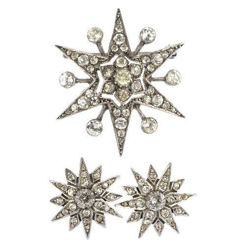 A set of paste jewellery.