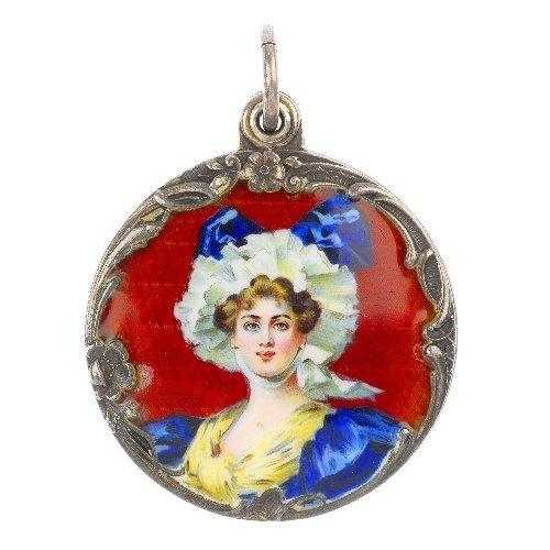 MEYLE & MAYER - an enamel mirror locket.