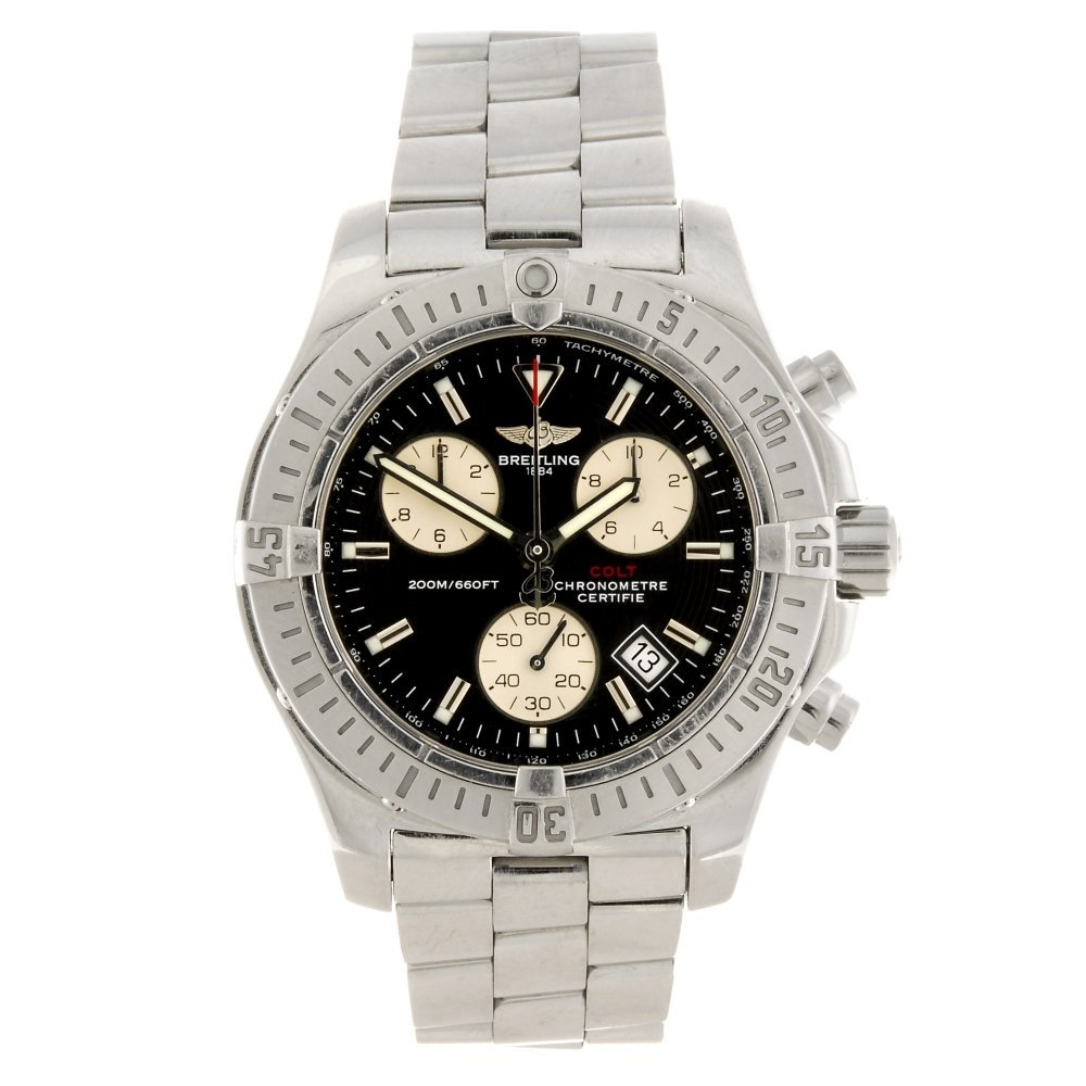 (205158118) A stainless steel quartz chronograph gentle