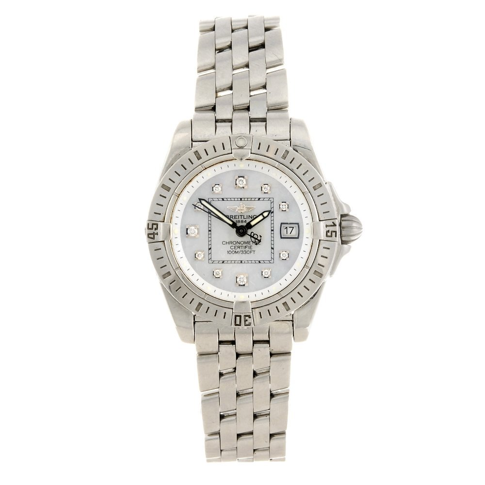 (413017135) A stainless steel quartz lady's Breitling C
