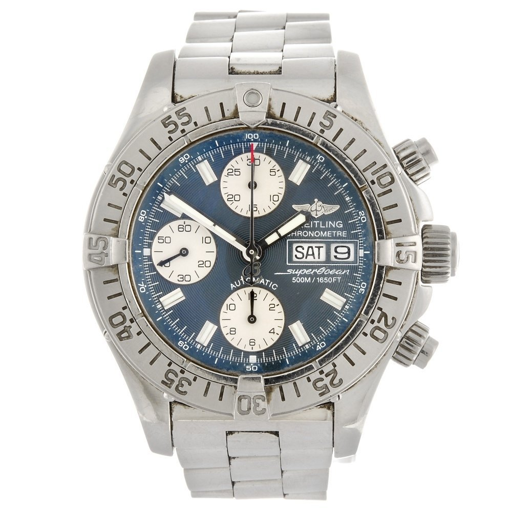 (100674) A stainless steel automatic chronograph gentle
