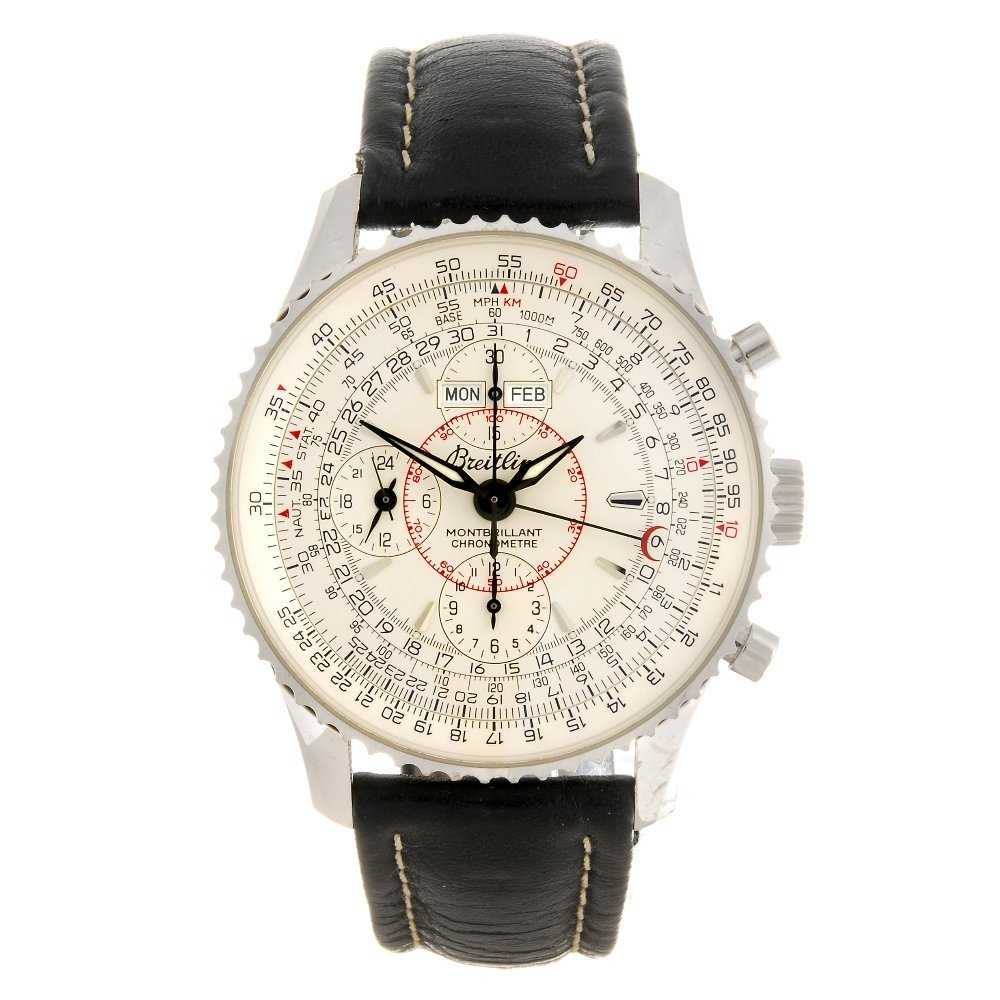 (196002478) A 18k white gold automatic chronograph gent