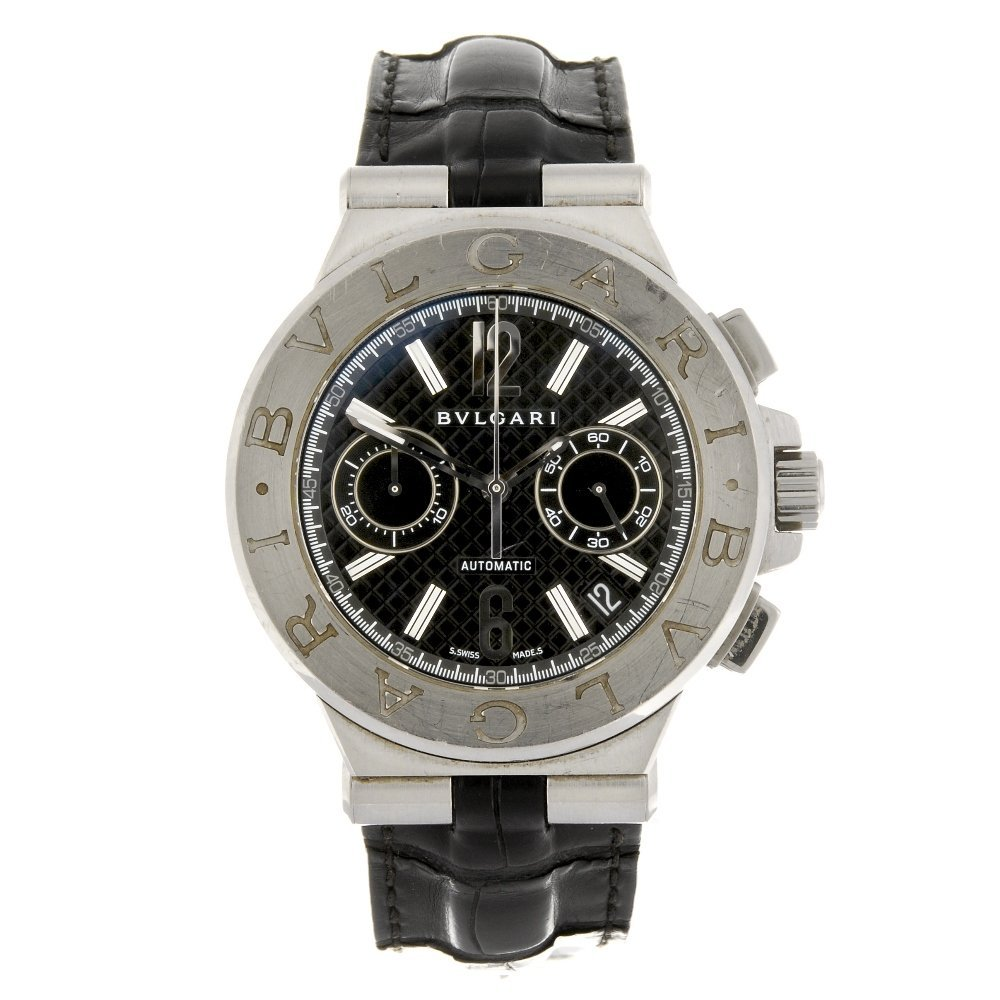 (123982) A stainless steel automatic chronograph gentle