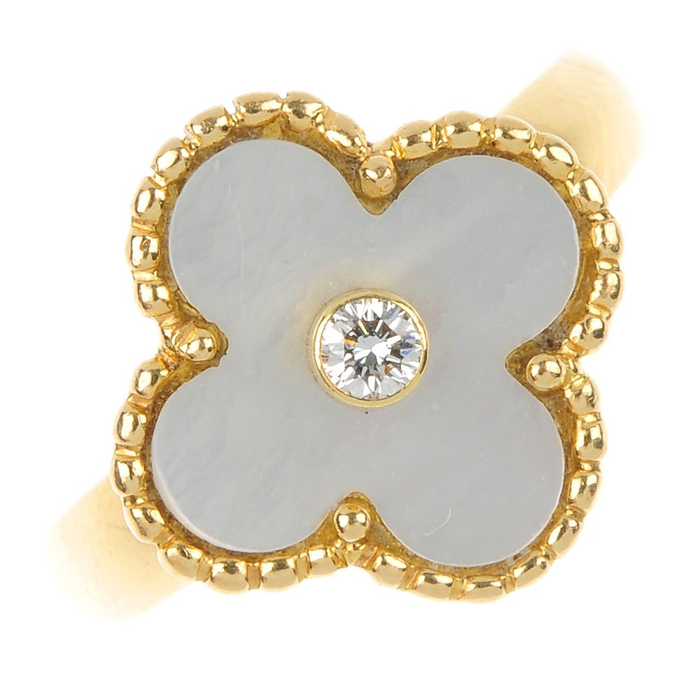 VAN CLEEF & ARPELS - an 18ct gold diamond and mother-of