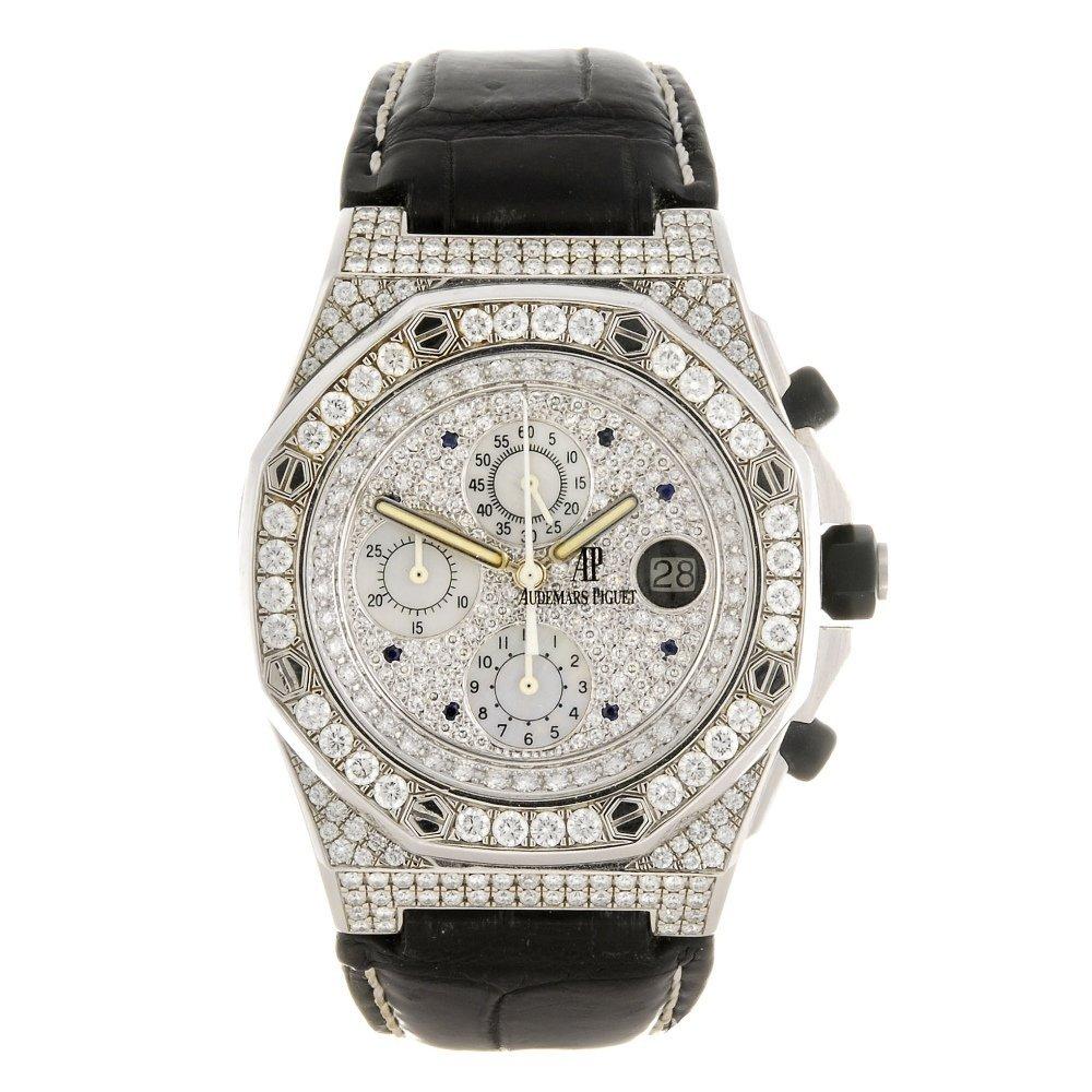 A stainless steel automatic chronograph Audemars Piguet