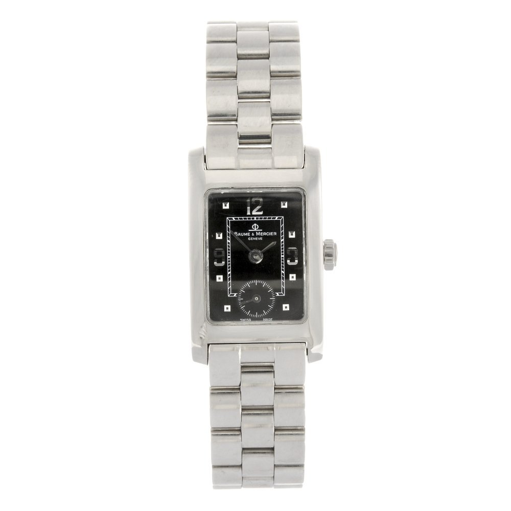 A stainless steel lady's Baume & Mercier watch.