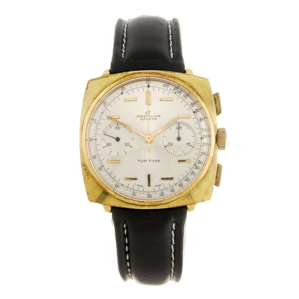 A gold plated manual wind chronograph gentleman's