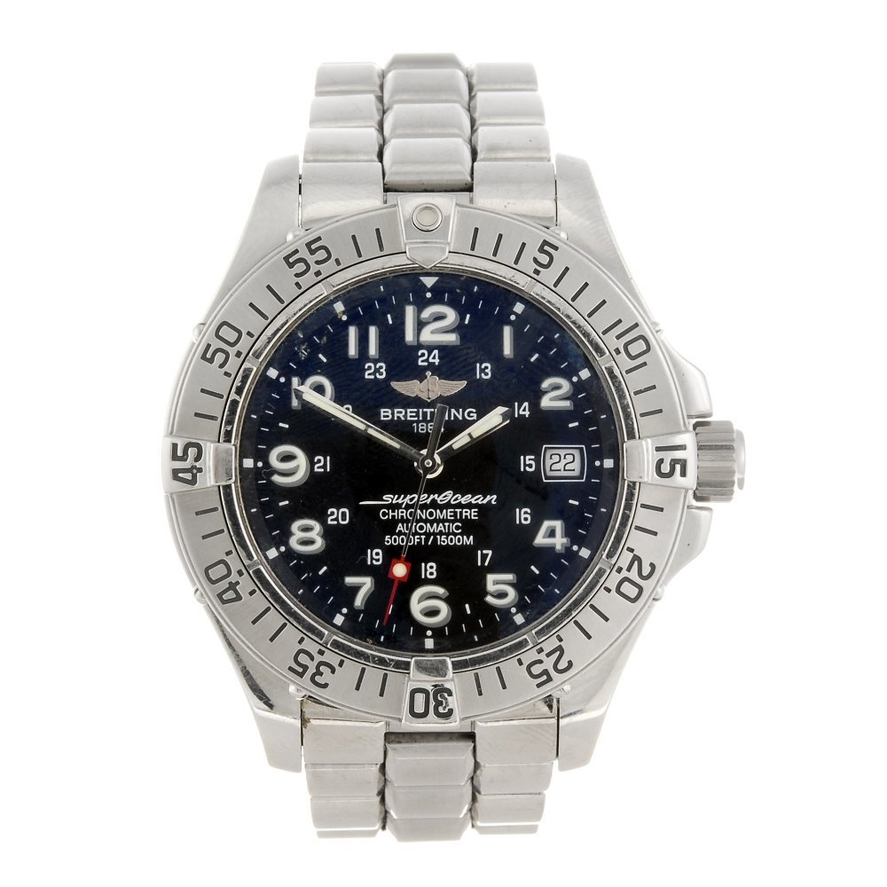 A stainless steel automatic gentleman's Breitling