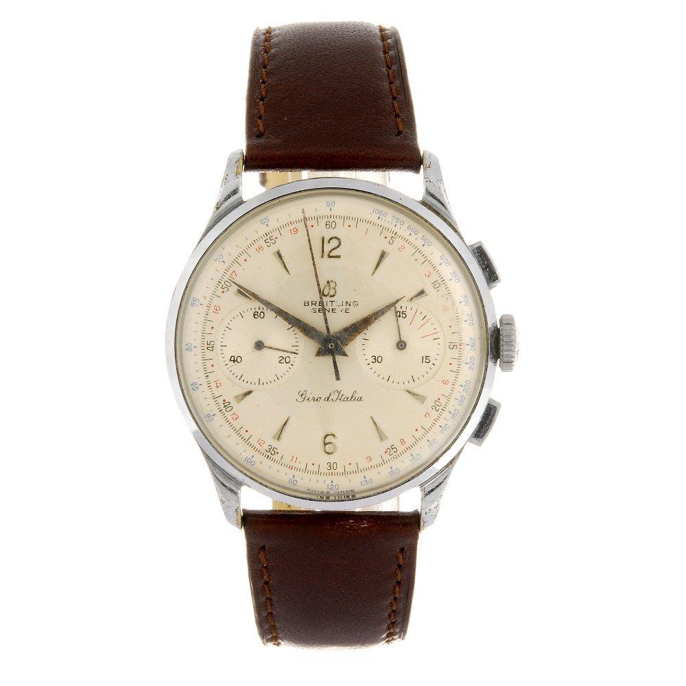 A base metal manual wind chronograph gentleman's