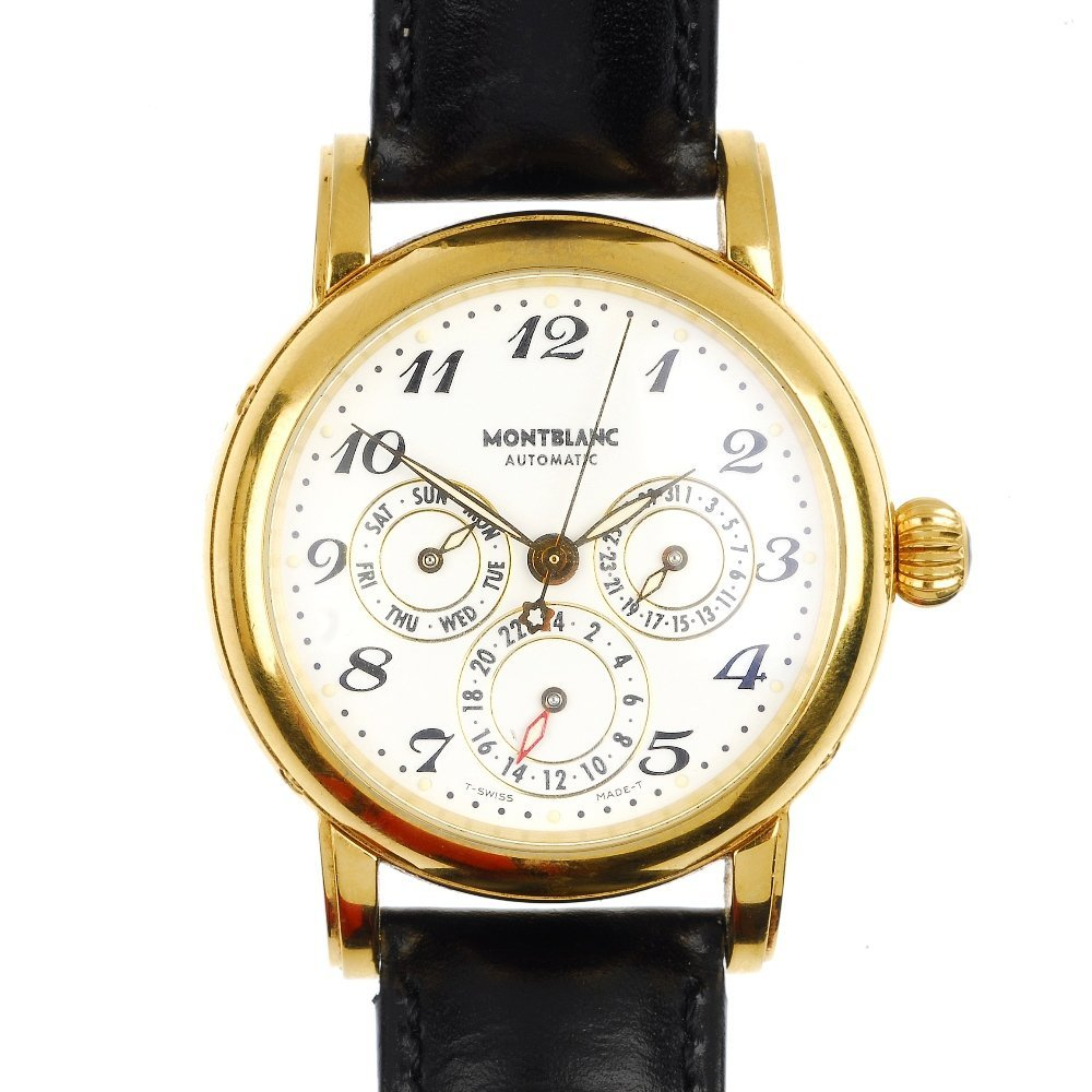 (120811) MONT BLANC- a fountain pen and a wrist watch.