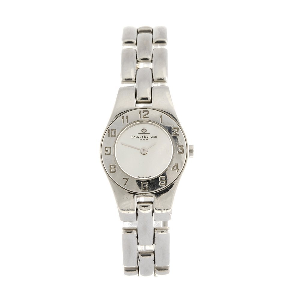 A stainless steel quartz lady's Baume & Mercier bracele
