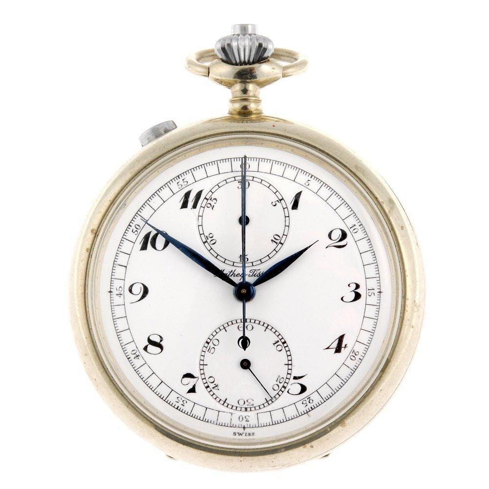 A base metal keyless wind split seconds chronograph by