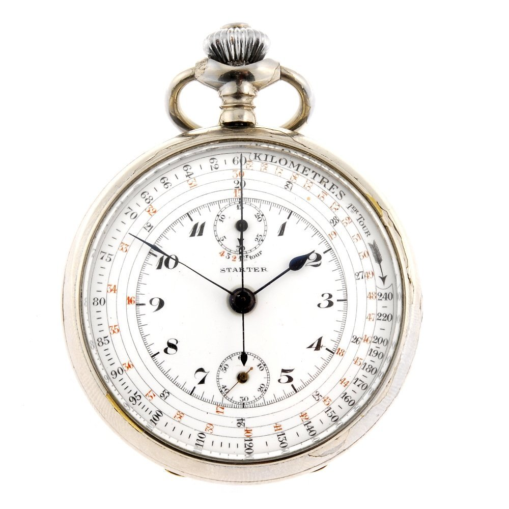 A base metal keyless wind open face chronograph by Star