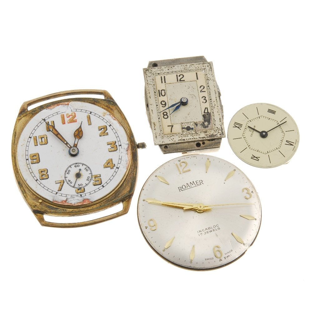 A group of watch movements.