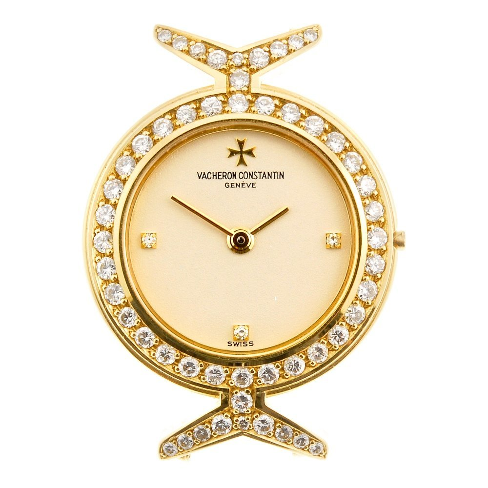 An 18k gold quartz lady's Vacheron Constantin watch