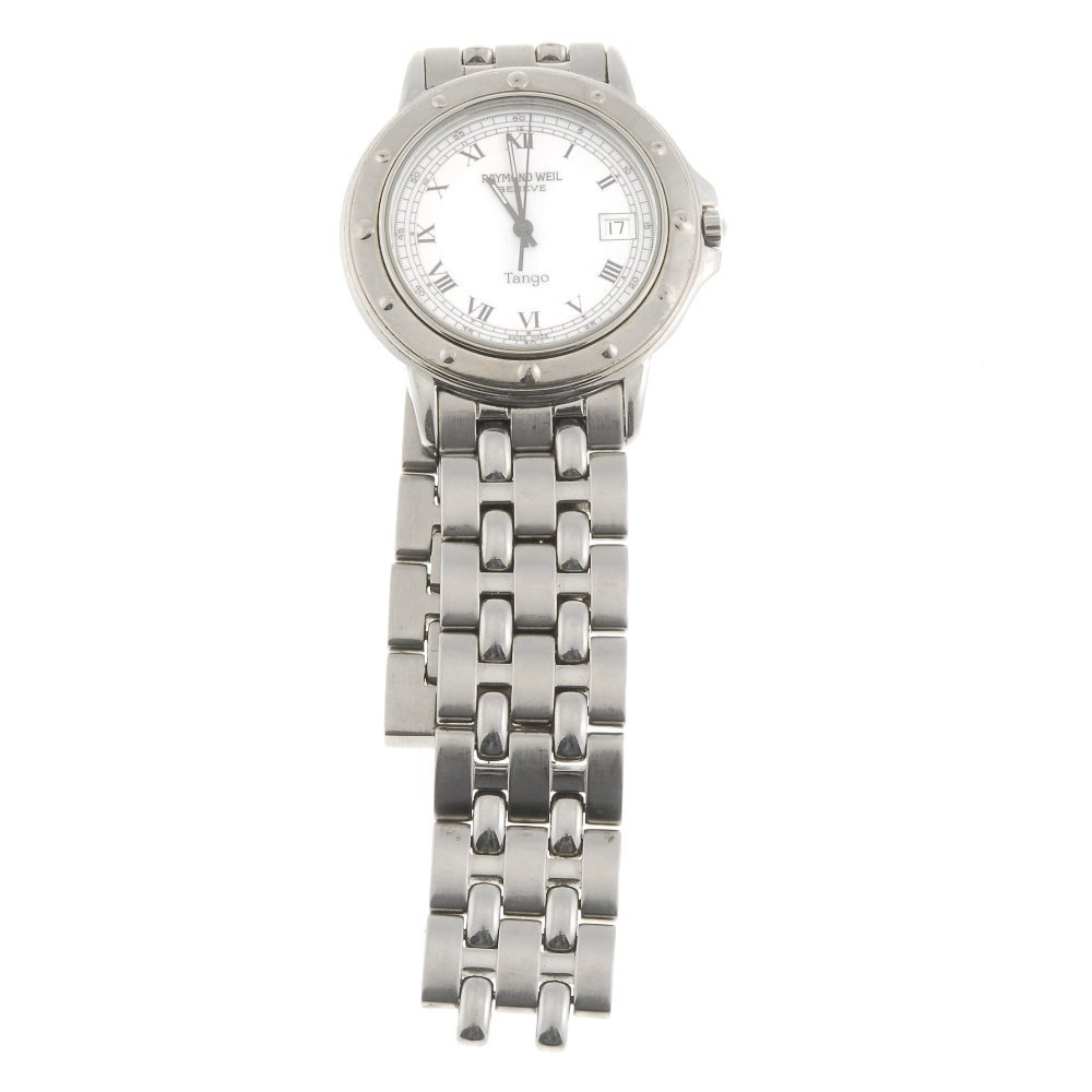 A stainless steel Raymond Weil Tango watch, recommended