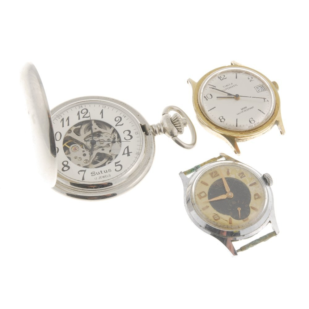 A selection of various watches and watch heads,