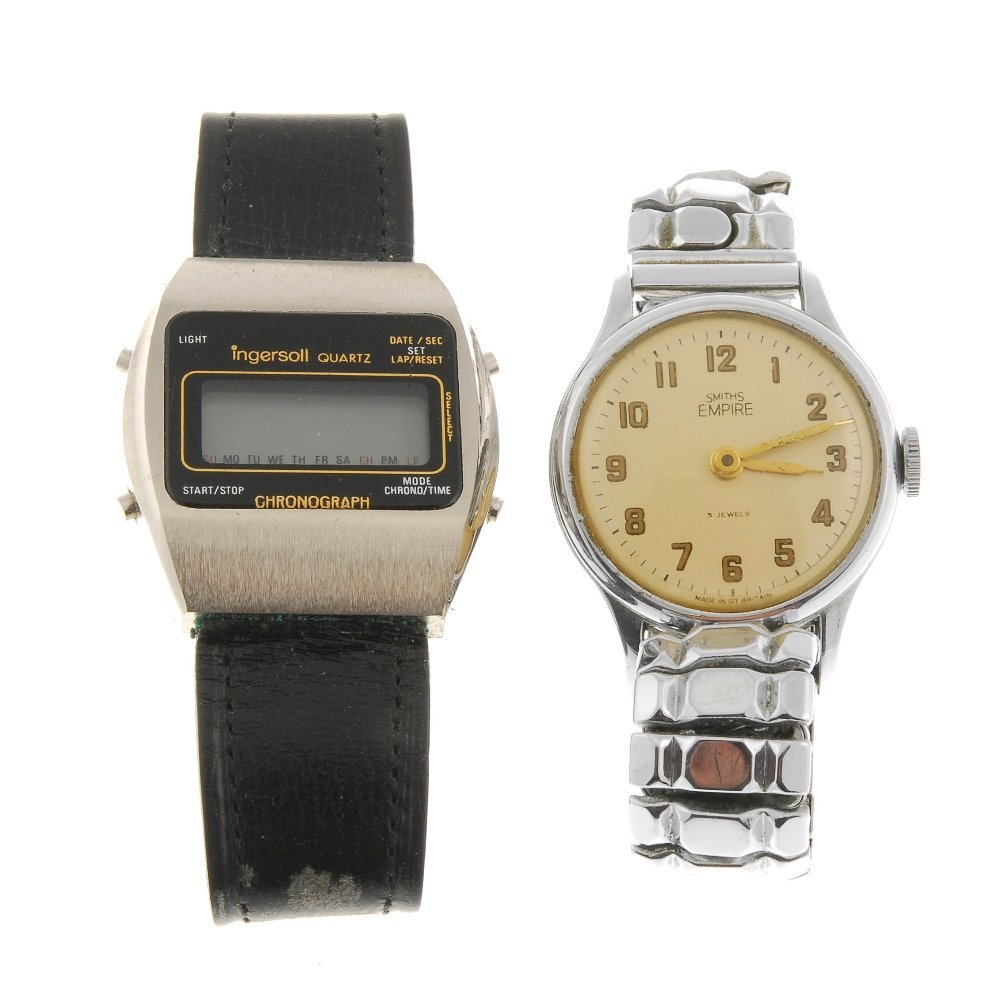 A group of various watches.