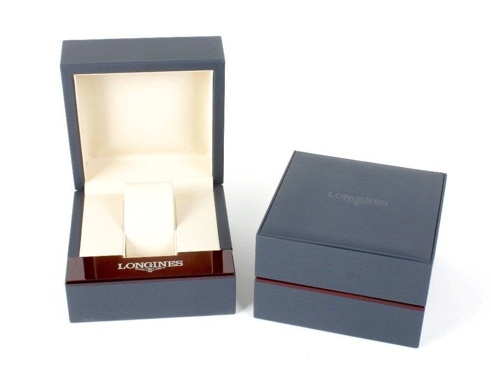 Longines watch boxes.