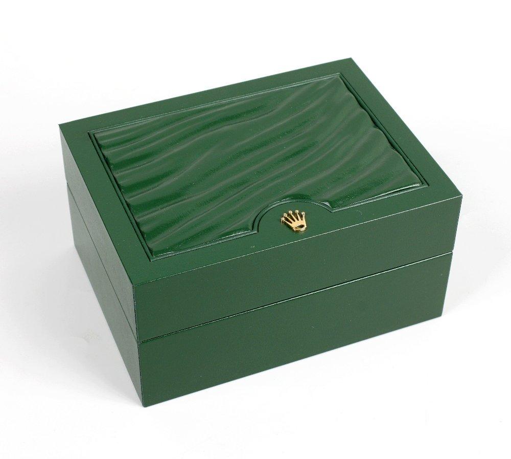 A Rolex watch box.