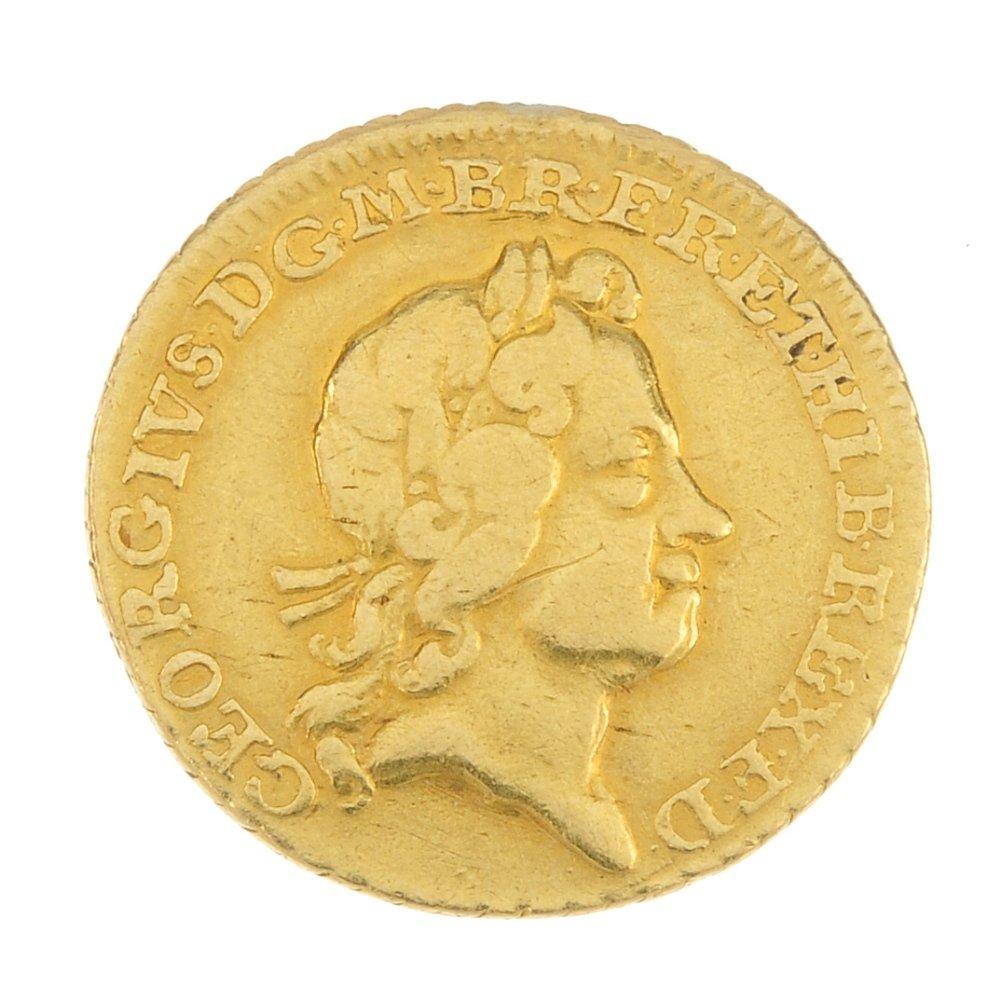 George I, gold Quarter-Guinea 1718 (S 3638).