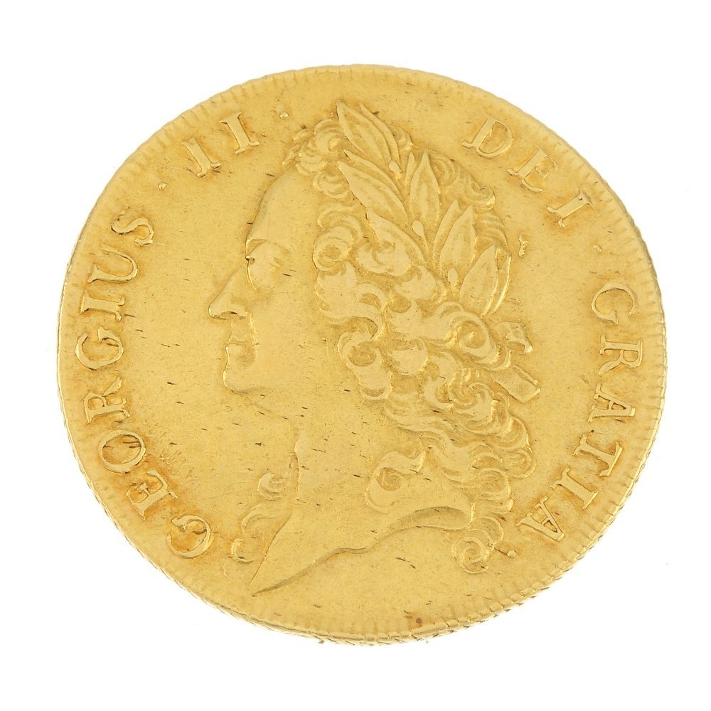 George II, gold Two-Guineas 1739.