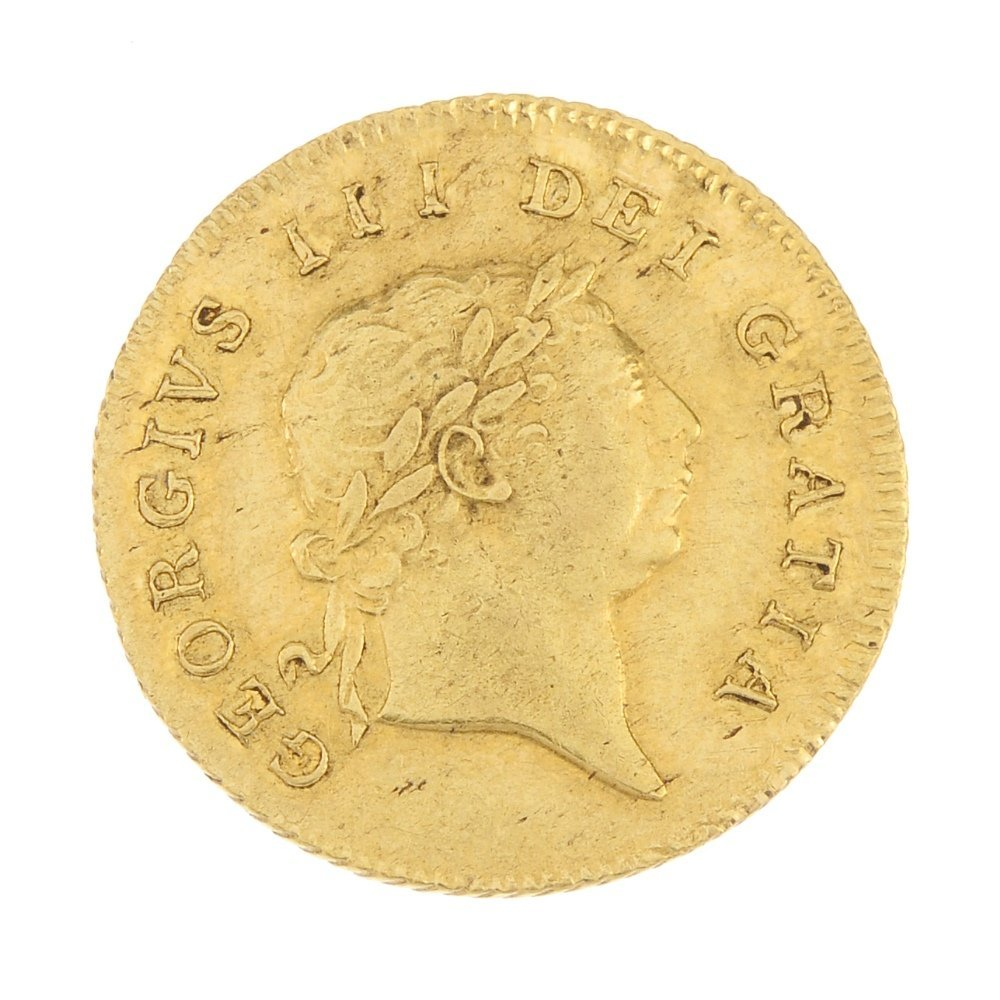 George III,  gold Half-Guinea 1806.
