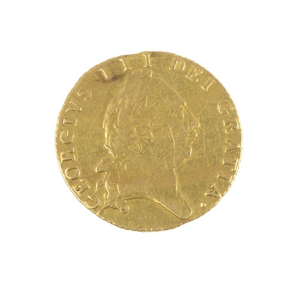 George III, spade Half-Guinea 1790.