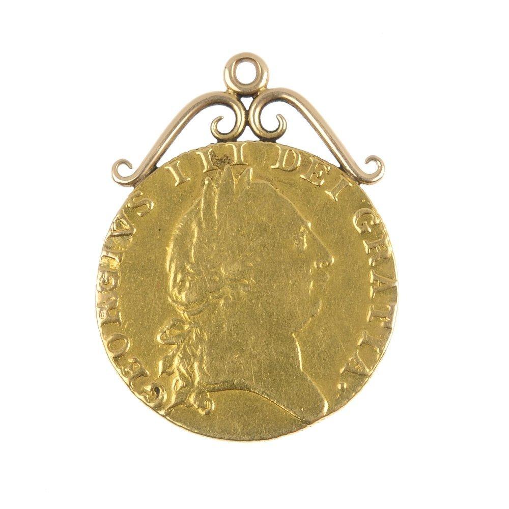 George III, spade Guinea 1788.